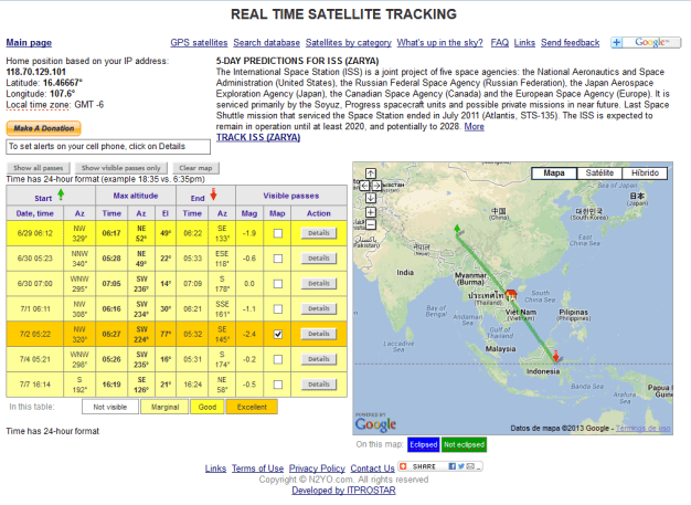 REAL TIME SATELLITE TRACKING 01