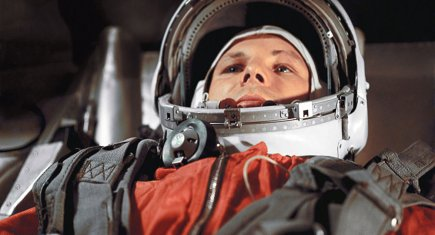 Gagarin preparándose para su vuelo. Foto: RIA Novosti.