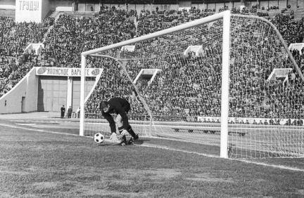 Moscú. El portero Lev Yashin durante un juego en el Estadio Luzhniki. 10/08/1970. Foto de Igor Utkin/Fotocrónica TASS.