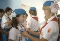 Samantha Smith durante su estancia en el Centro Internacional de Niños Artek, Yalta, Crimea, Unión Soviética, 12 de julio de 1983. Foto: Sergei Smolsky / ITAR-TASS.
