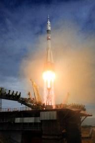 2 de spetiembre de 2015: Lanzamiento de la nave Soyuz TMA-18M desde el cosmódromo de Baikonur en Kazajstán, llevando a la Expedición 45 a la orbita terrestre para comenzar su misión en la estación Espacial Internacional. Crédito de la imagen: S. Corvaja / Agencia Espacial Europea (ESA).