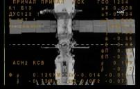 Módulo Poisk MRM-2 visto desde la Soyuz MS-02, durante las maniobras de acoplamiento. Foto: NASA TV.