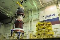 04 de Noviembre de 2016: La nave Soyuz MS-03 en el edificio de pruebas y montajepara ser integrada al cohete Soyuz-FG. Foto: S.P. Korolev/RSC Energia.