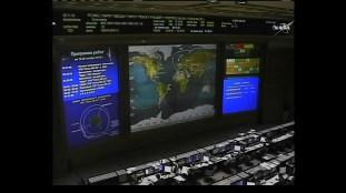 Centro de Control de Misión de Moscú. Foto: NASA TV.