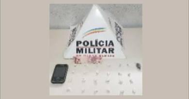 Jovem de 21 anos é preso por tráfico de drogas no bairro Cais em João Pinheiro