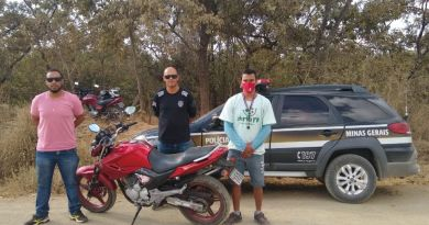 Moto roubada no Jardim Bouganville 3, é recuperada pela Polícia Civil em João Pinheiro
