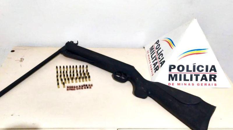 Polícia Militar apreende arma de fogo durante abordagem na Barão do Rio Branco em João Pinheiro