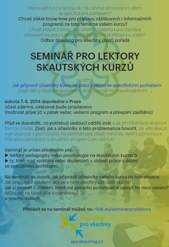 SpV_Seminar pro lektory_pozvanka_kurzy