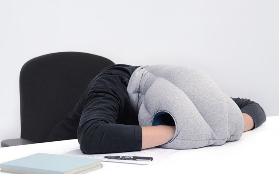 ostrich nap pillow review how to sleep