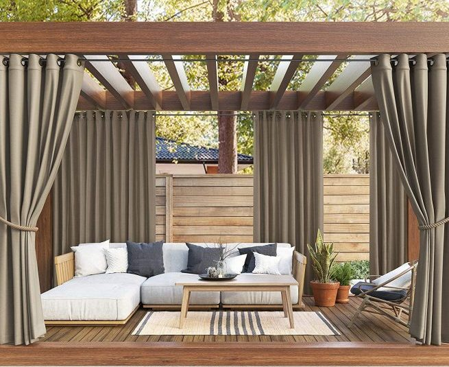 create your own oasis with outdoor patio curtains