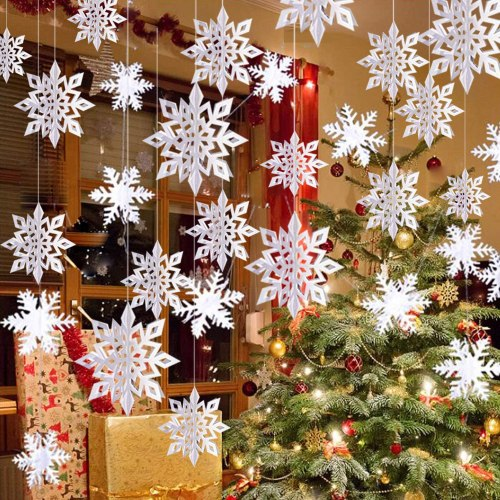 winter hanging snowflakes, budget Christmas presents