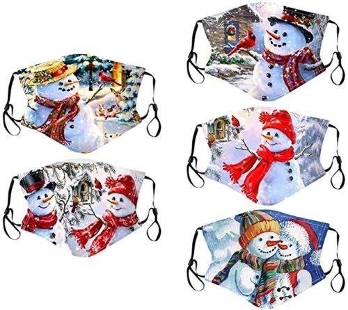 christmas face masks snowmen