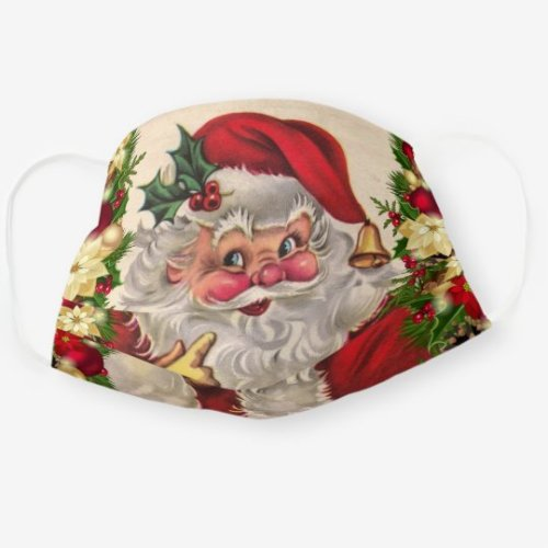 christmas face masks vintage santa