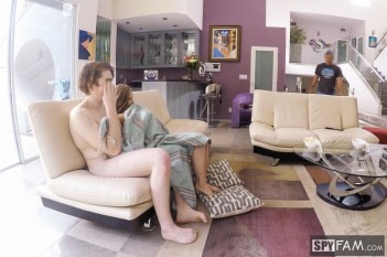 Lena Paul in Dad Busy Watching Game. Step Siblings Busy Fucking 5