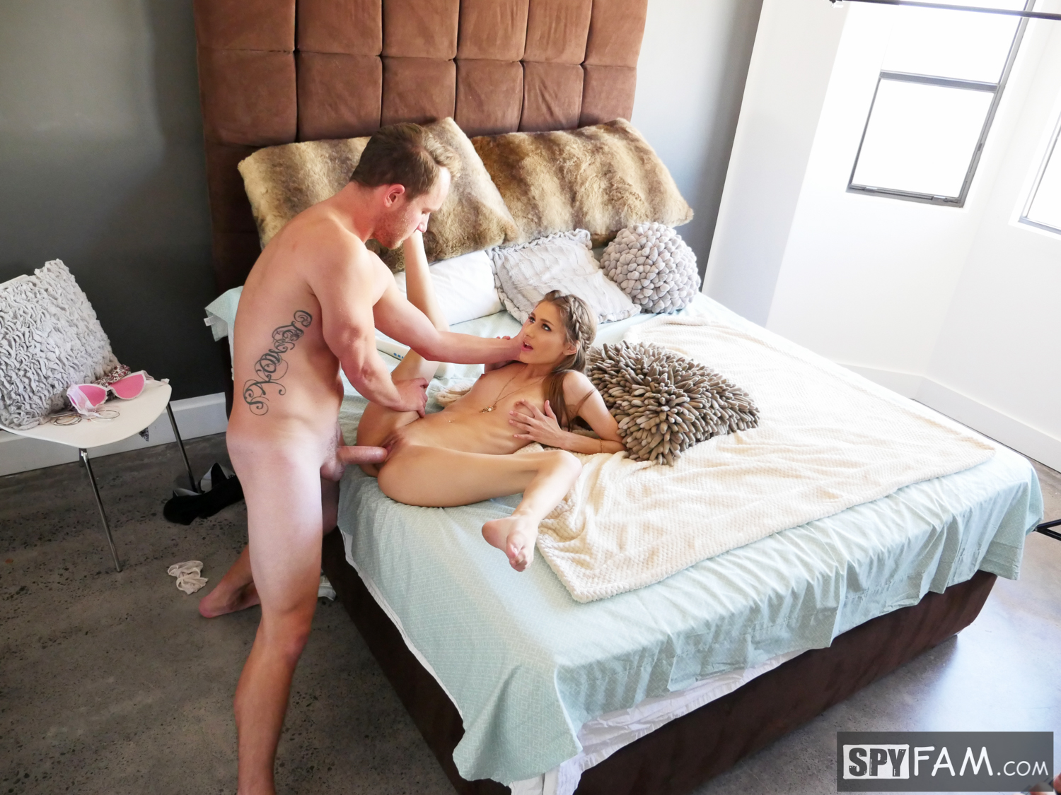 Rebel Lynn in Step-Bro Wants Sister's Opinion On His Dick Size 17