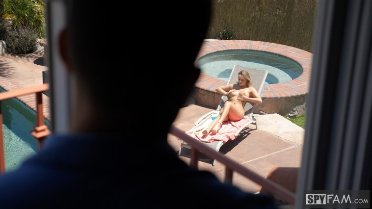 Alexis Adams in  Step Brother Caught Peeping By Step Sister By The Pool 7