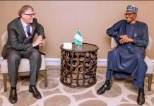 Buhari meets Bill Gates