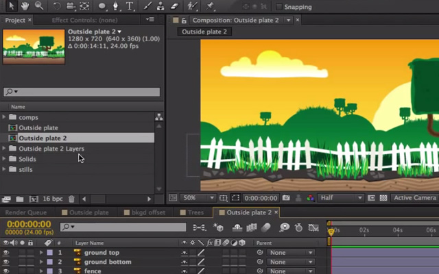 create parallax background effect animation
