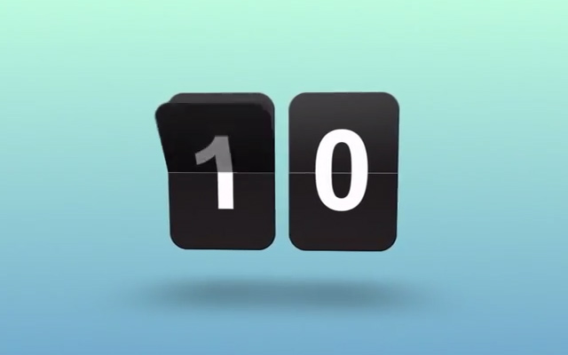 after effects animated flip clock