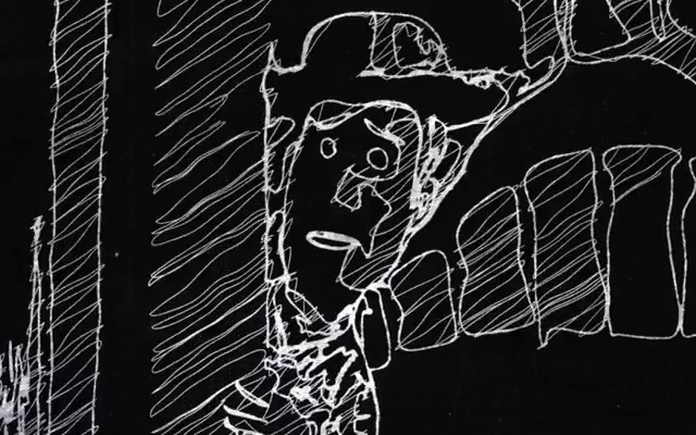 chalkboard style scribble smudge animation