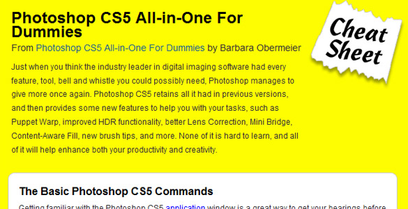 Adobe Photoshop CS5 – all in one for dummies