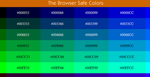 The Browser-Safe Colors