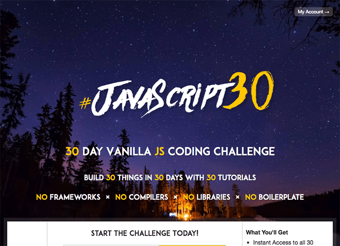 learn web development javascript 30