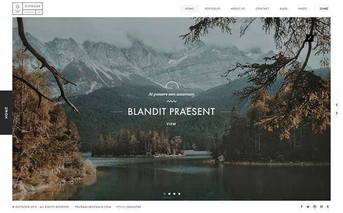 outdoor bootstrap themes 2017