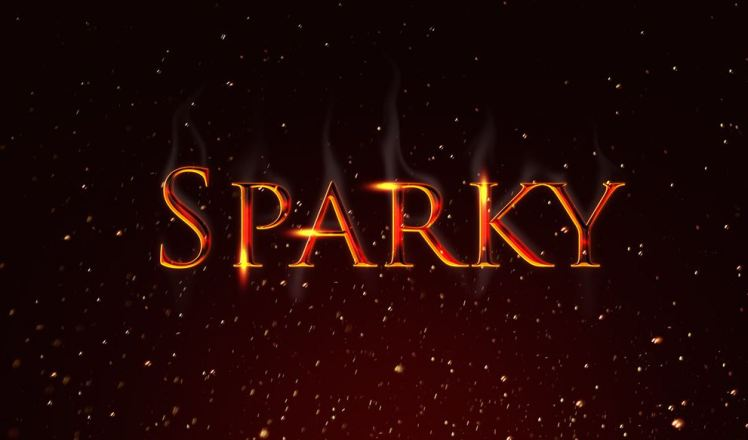 Sparky Text Effect