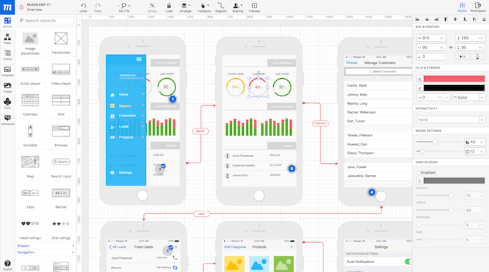 wireframing tools moqups