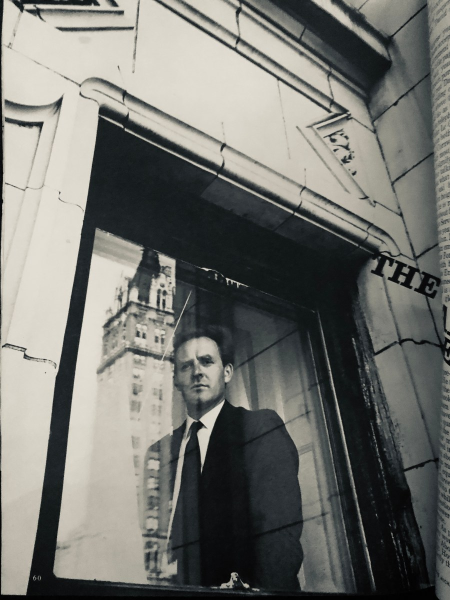 Picture of John le Carré in 1964 by Duane Michals