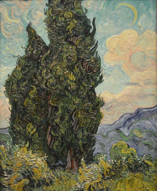 Cypresses — Vincent Van Gogh