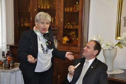 Lucia Martino dhe Bujar Nishani