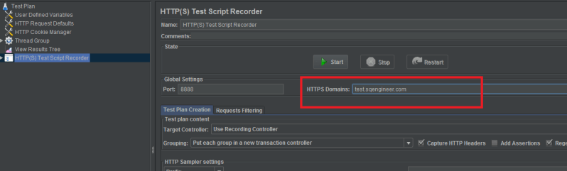 How to record Jmeter script with IP address - Software