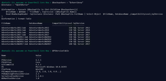 PowerShell Core | SQL DBA with A Beard