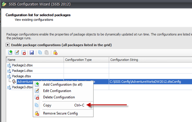 Adding/Copying SSIS XML Package Configurations | Data and