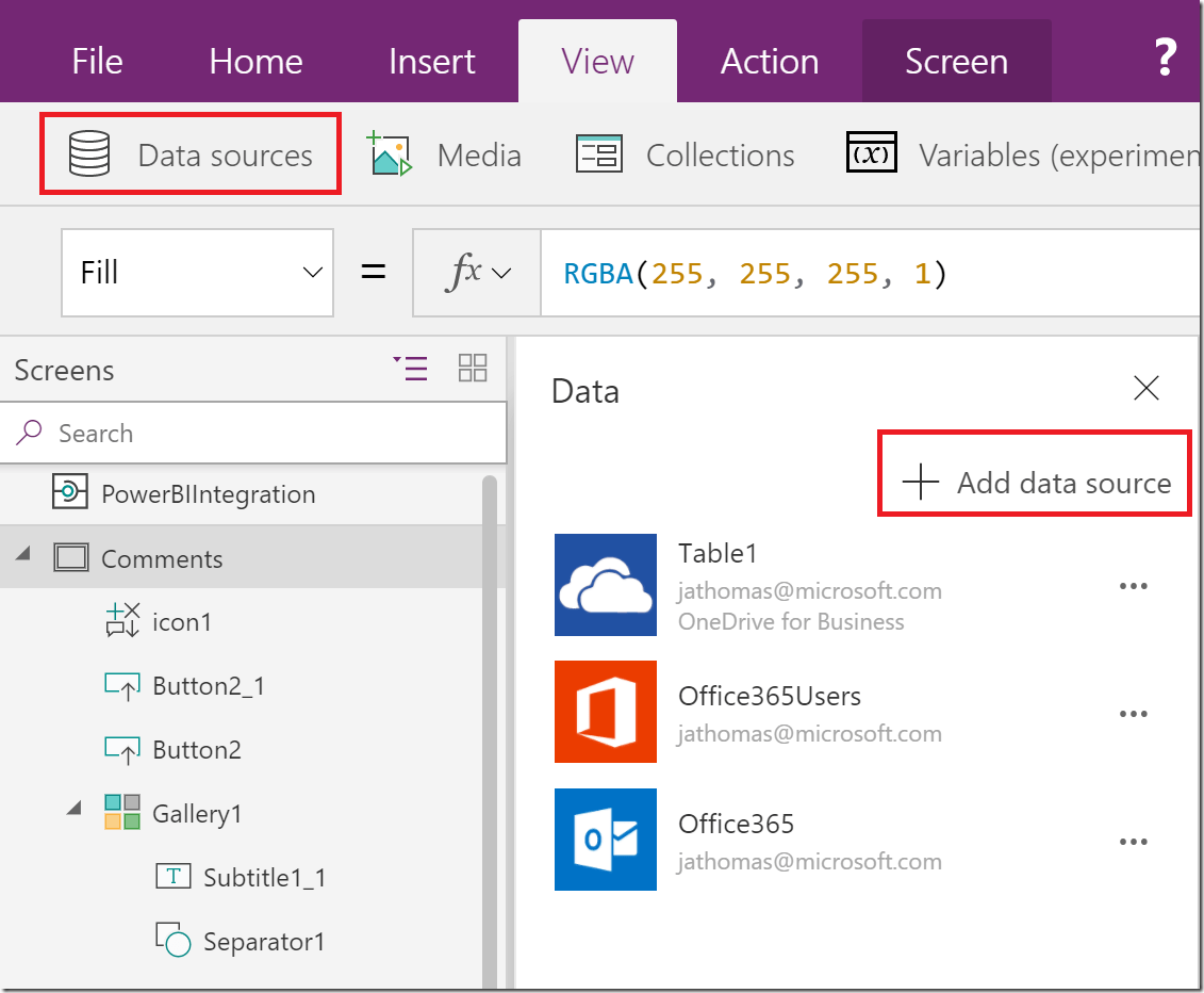 Adding Comments & Sending Emails in Power BI using PowerApps – Some