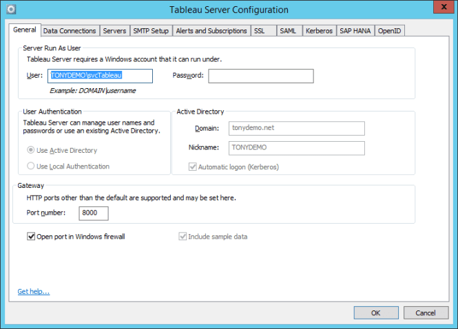 Tableau Kerberos Delegation to SQL Server / SSAS – Part 2