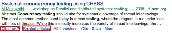 Google Scholar Search Result