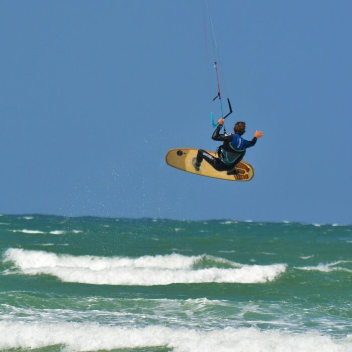 board freestyle kite lime