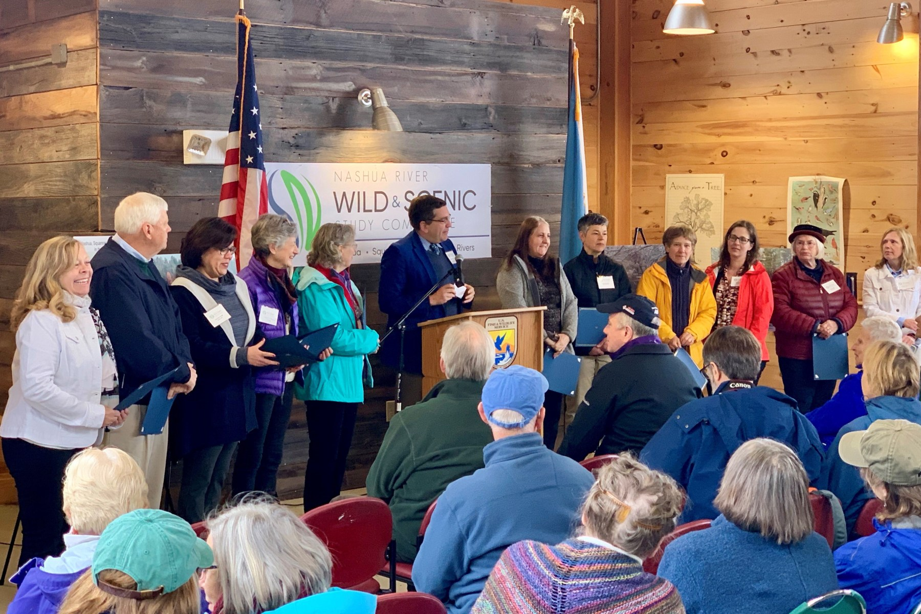 Representatives of the eleven towns who worked on and approved the Wild & Scenic plan.