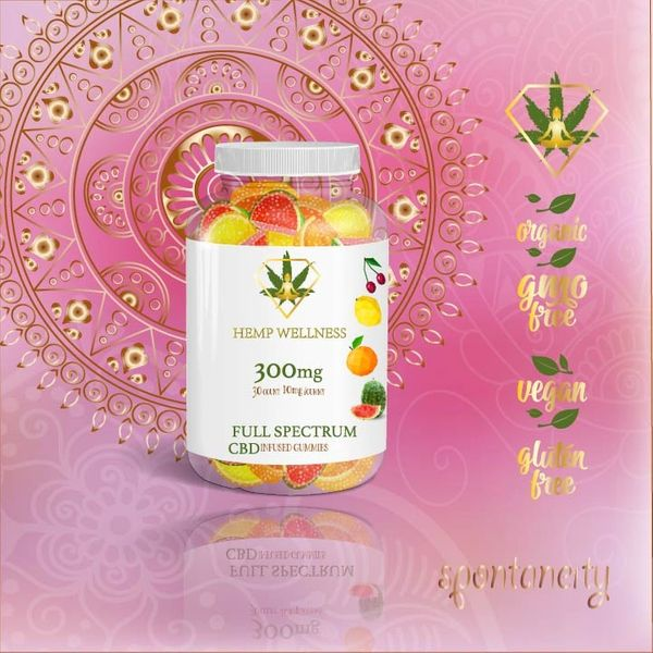 Hempwellness Full Spectrum CBD Gummies