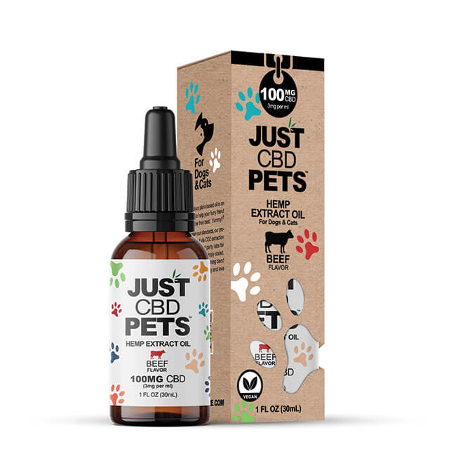 Just CBD Pet Tinctures for dogs or cats