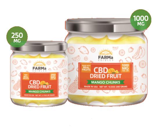 Dried CBD Mango Chunks