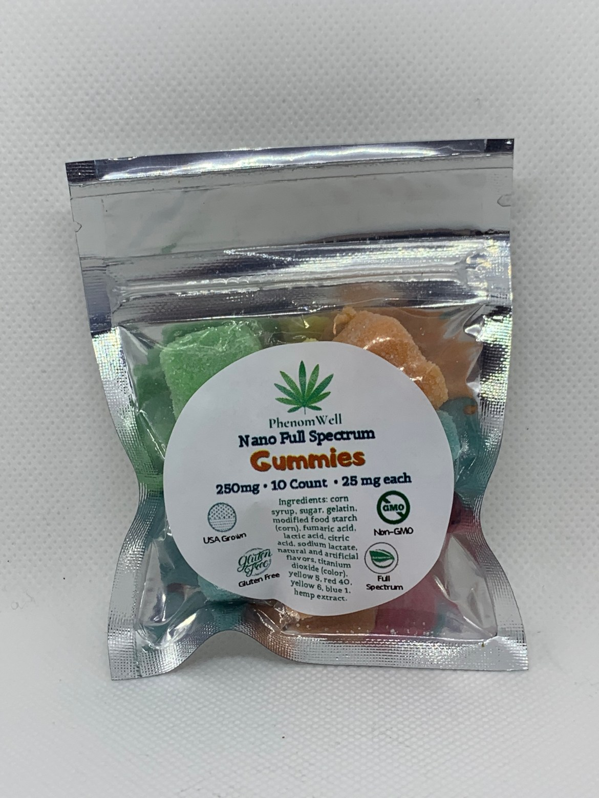 PhenomWell 25mg FS Gummies 10 Count