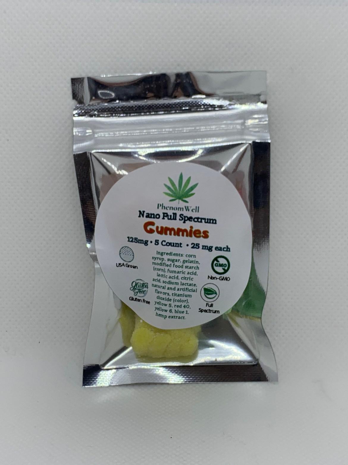 PhenomWell 25mg FS Gummies 5 Count