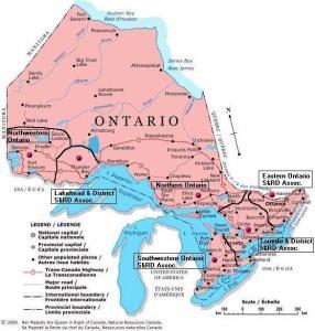 map of Ontario Associations