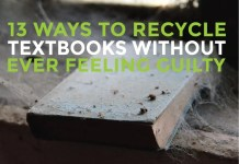 recycle old textbooks