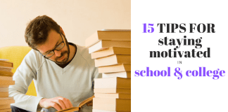 how to stay motivated in college and school