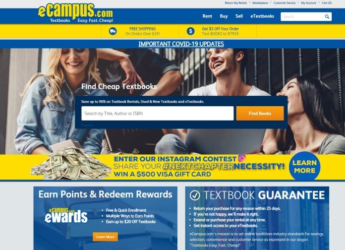 ecampus buy and sell trusted textbooks